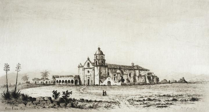 22 Henry Chapman Ford, Mission San Luis Rey de Francia, 1883, LACMA 1500