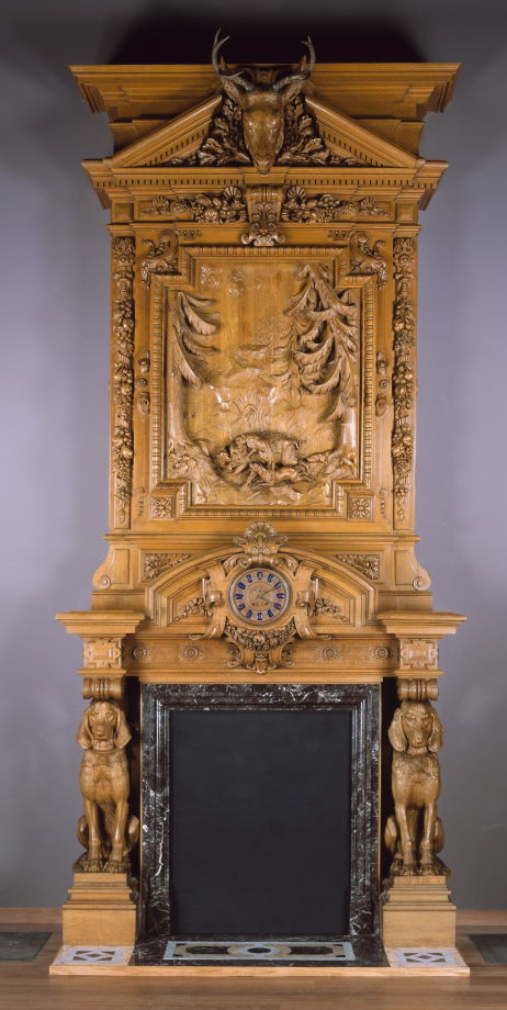 22, Herter Bros., Mantelpiece for Thurlow Lodge, Menlo Park, Calif., 1872-73, FAMSF