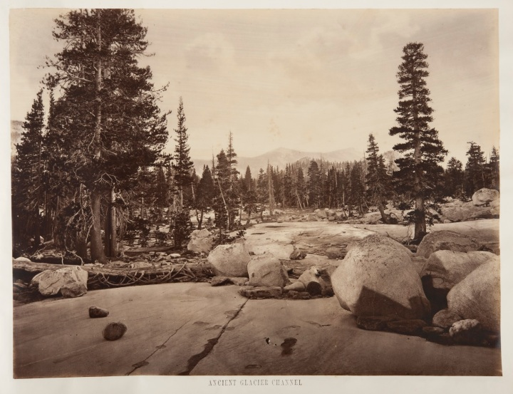 23 EJM, Ancient Glacier Channel, Lake Tenaya, 1872, CSL 1500