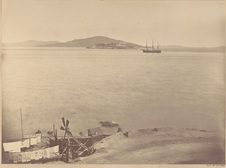 3 CEW, Alcatraz and the Aquila, SF, 1863, BANC