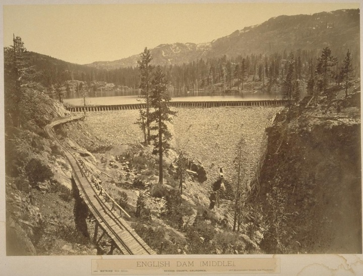 3 CEW, English Dam (Middle), Nevada County, Calif., ca. 1871-79, BANC