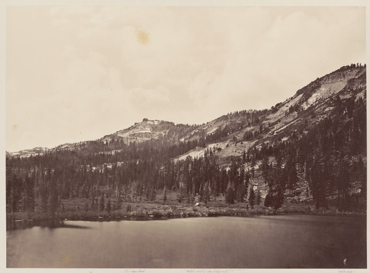 3 CEW, Mt Lola from Independence Lake, 1879, BANC