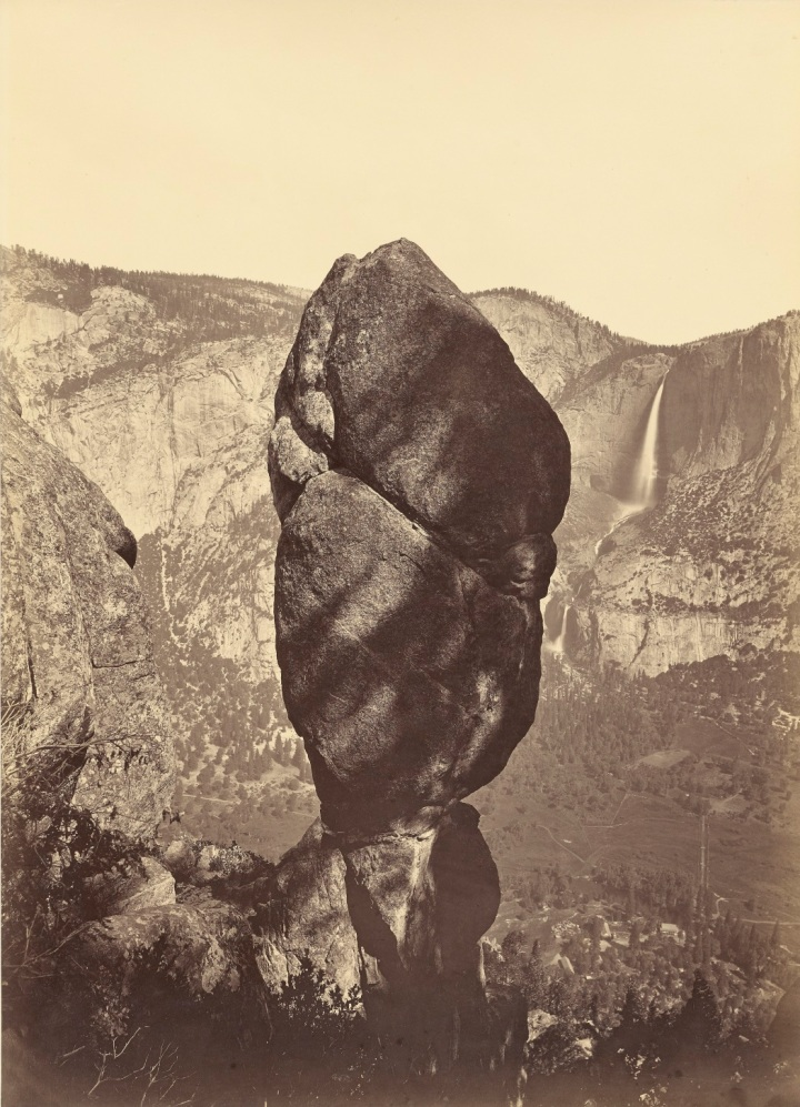 32 CEW, Agassiz Rock and Yosemite Falls from Union Point, 1878-81, JPGM 1050