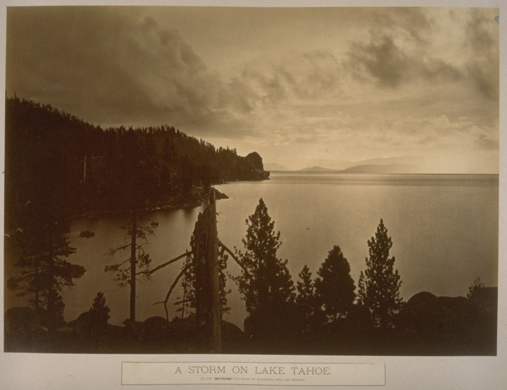 3a CEW, A Storm on Lake Tahoe, 1876, Hearst at Cal 1500