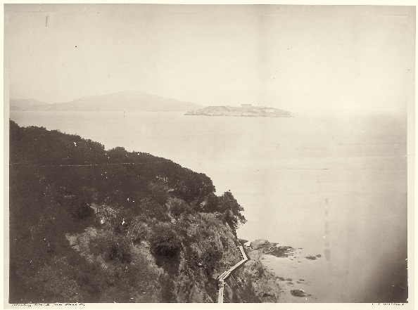 4 CEW, Alcatraz Island from Black Point, ca 1862-64, CHS