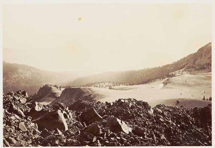 4 CEW, Ash Slopes on Lassen's Butte, 1870, BANC