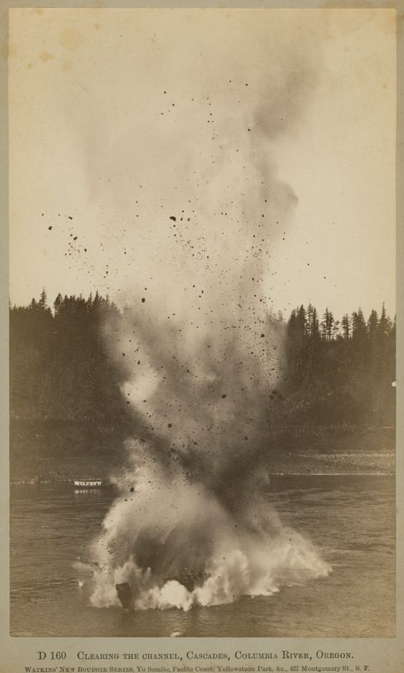 4 CEW, Clearing the Channel, Cascades, Columbia River, ca. 1882-83, private collection.jpg