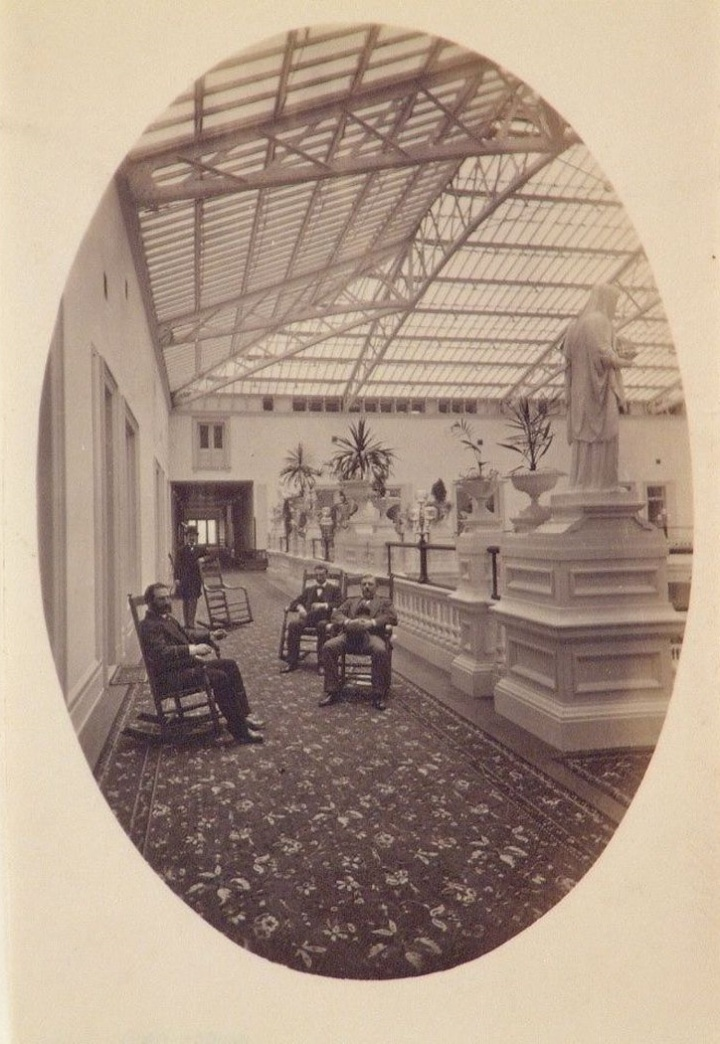 4 CEW, Interior view of seventh floor tier of the Grand Court of the Palace Hotel, San Francisco, ca 1876, CCA, Montreal
