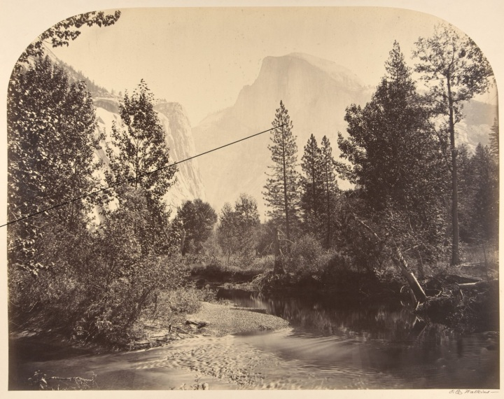 4 CEW, Outline View of Half Dome, 1861, Met 1500