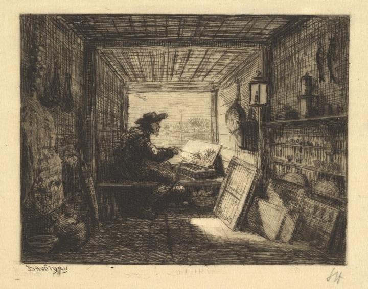 4 Charles-Francois Daubigny, The Boat Studio, 1861, from series Voyage en Bateau, 1862, Met 1500