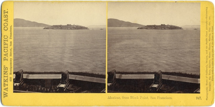 5 CEW, Alcatraz, from Black Point, SF, ca 1862-64, CSL
