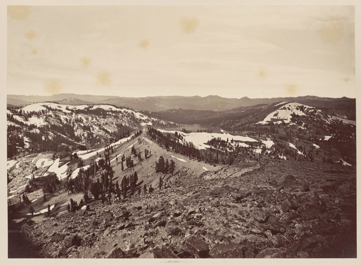5 CEW, Lake Edna from Mount Lola, 1879, BANC