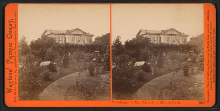 5 CEW, Residence of Mr. [Faxon] Atherton, Menlo Park, ca 1865-76 1500