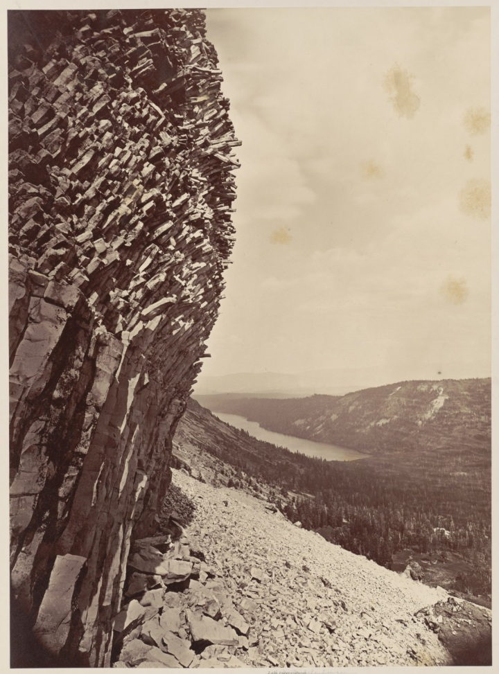 6 CEW, Independence Lake from Sphinx Head, Mt. Lola, 1879, BANC 1100