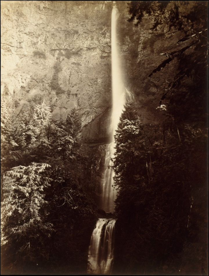 6 CEW, Multnomah Falls, Front View, Oregon, 1867, Met 1100
