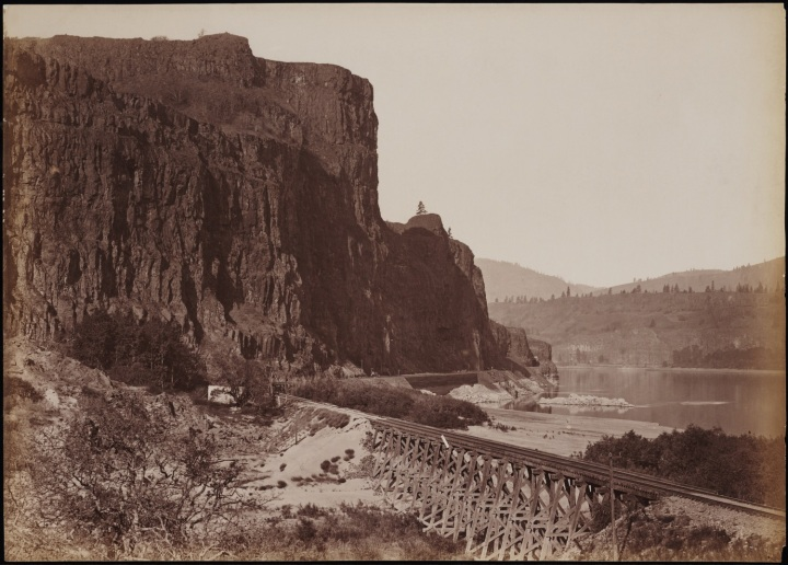 6 CEW, Rock Bluffs and Railroad Bridge, ca 1882-83, Beinecke 1500
