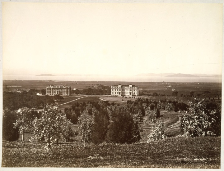 6 CEW, The Golden Gate from the University Grounds, Berkeley, Alameda County, 1874, CSL 1500
