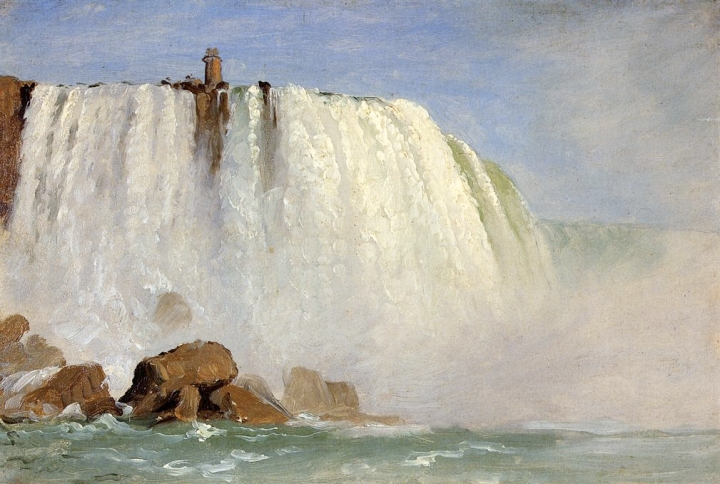 6 Frederic Church, oil sketch for Under Niagara, 1862, Olana State Historic Site, Hudson, NY