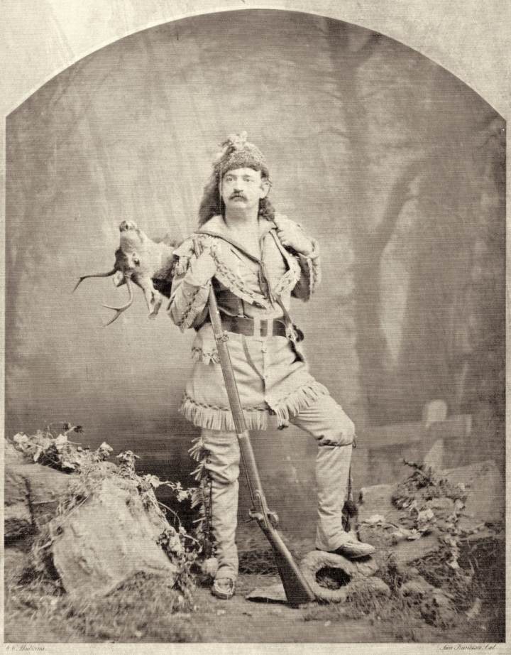 7 Attributed to CEW, Frank Mayo as Davy Crockett, ca. 1872, private collex 1000