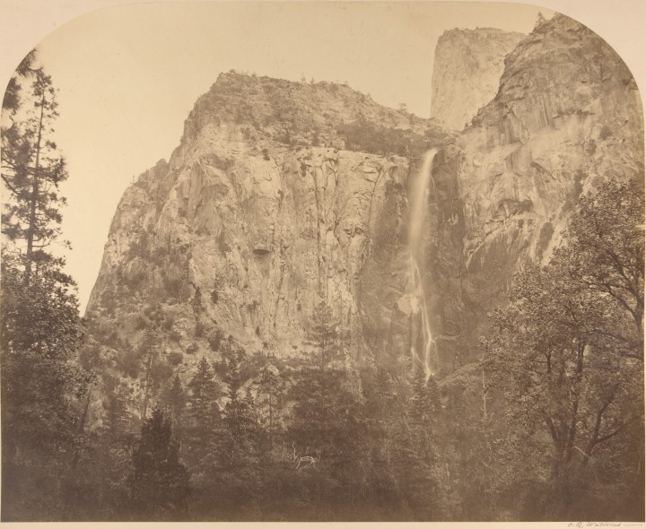 7 CEW, Bridalveil Fall, 1861, Met, one of first three