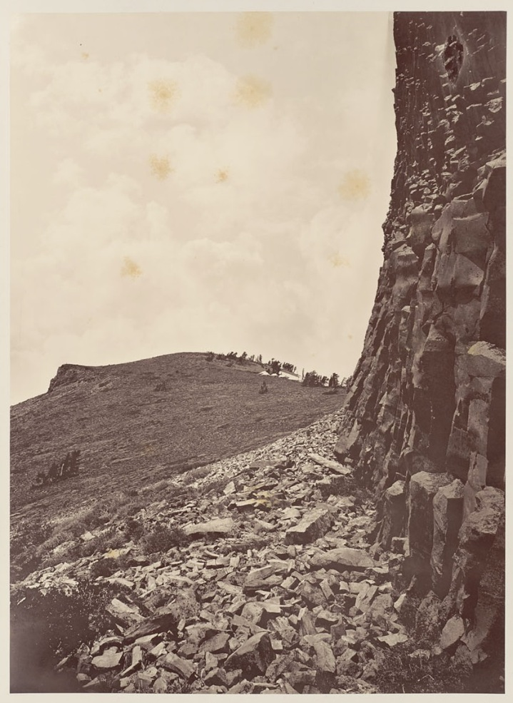 7 CEW, Mt Lola Summit from Under Sphinx Head, 1879, BANC