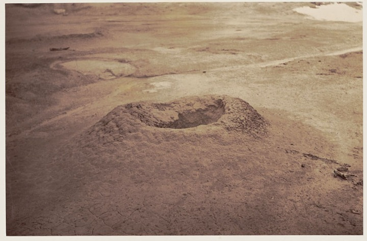 7 CEW, Mud volcano in hot springs near Lassen's Butte, 1870, BANC