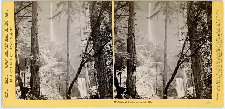7 CEW Multnomah Falls, Oregon, 1867, OHS 1500