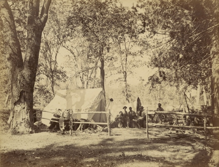 8 CEW, A Camping Party in Yosemite, 1865, Crocker