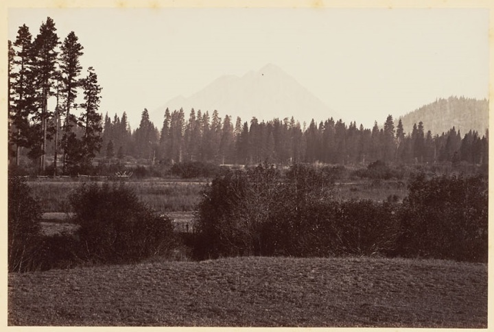 8 CEW Black Butte from Sissons, 1870, BANC