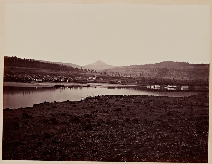 8 CEW, The Dalles, Oregon [and Mount Hood], from Rockland, Washington Territory, 1867, SUL 1500