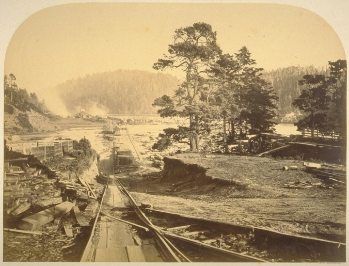 8 CEW, The Incline, Mill on Big River, Mendocino, 1863, BANC