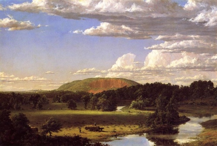 8 Frederic Church, West Rock, New Haven or Haying Near New Haven, 1849, NBMAA