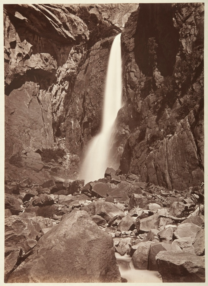 9 CEW, Lower Yosemite Fall, ca 1878-81, CSL 1100