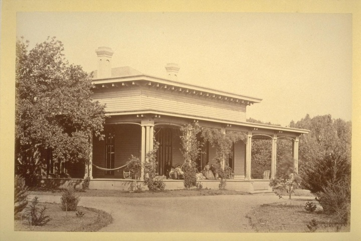 9 CEW, The Bungalo, Baywood, Residence of John Parrott, San Mateo County, 1864-65 (cut down), BANC