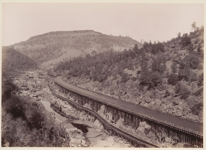 Carleton Watkins, Golden Gate Mining Claim, Feather River, Butte County, 1890-91. Collection of the Bancroft Library, University of California, Berkeley..jpg