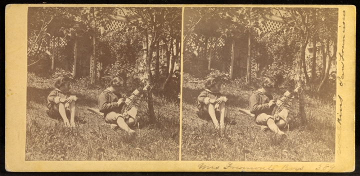 CEW, Mrs Fremont's Boys, ca. 1860-61, JPGM via cworg