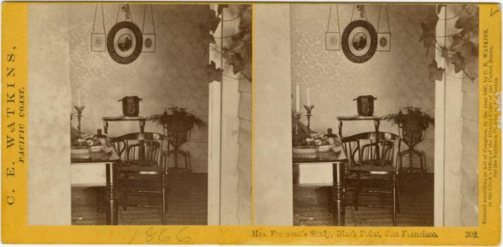 CEW, Mrs Fremont's Study (2), ca 1860-61, SFPL via cworg