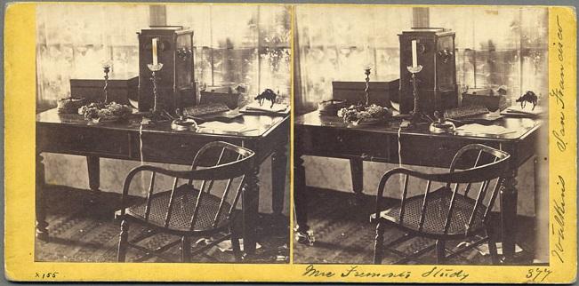 CEW, Mrs Fremont's Study, ca 1860-61, SCP via cworg